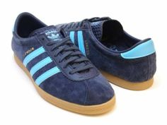 ADIDAS ORIGINALS LONDON TRAINERS BLUE UK 9/US 9.5 dublin gazelle og G44161