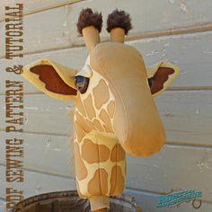 Giraffe Ride On Toy Stick Horse Sewing Pattern by RusticHorseShoe