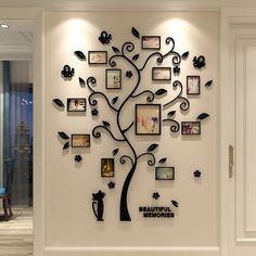 Compra 1 Set Acrylic Crystal Wall Stickers Living Room Bedroom Cozy Pictures Tree Stickers Creative Home Decoration SIZE S L XL en Wish- Comprar es divertido Wall Stickers Tv, Wall Decals, Vinyl Decals, Sticker Mural, Creative Photo Frames, Picture Tree, Family Tree Wall Decal, Crystal Wall, Diy Home Decor Projects