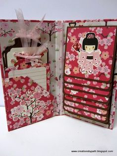 Waterfall folio - My Little Shoebox: Cherry Delight - by Patti Lee, Creations by Patti.