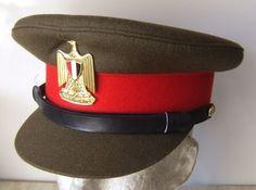 Egyptian Army officers' service uniform visor cap.