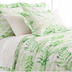 Green Fern Duvet Cover