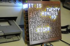 This looks like a fun weekend project! DIY Word Clock