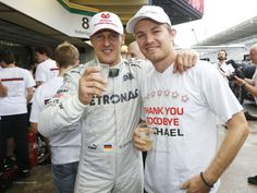 Michael Schumacher, Nico Rosberg, Mercedes, Interlagos, 2012