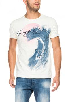 T-shirt com gráfico onda | 116166 AMARELO SURF | Salsa