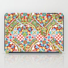Design Confections Pattern on Pattern II iPad Case by #PatriciaSheaDesigns