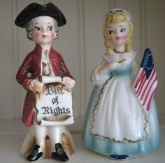 Colonial Period, Bill Of Rights,,Salt and Pepper Shakers!! Love these my favorites