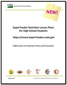 NEW SuperTracker Lesson Plans for High School Students! Help #students grades 9-12 learn how to build a healthy diet using SuperTracker.