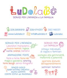 Logo e BV f/r LudolaBò, Servizi per l'infanzia e la famiglia