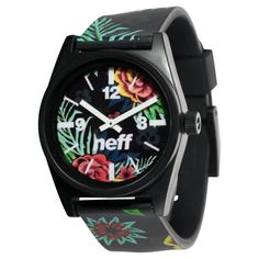Show your wild side with Neff's best selling watch! - Custom designed watch with ABS Case and PU strap. - Water resistant to 165 ft.