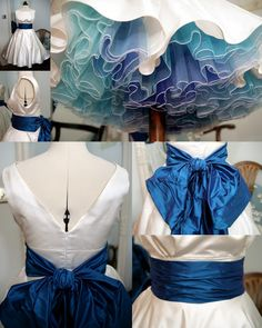 Lizzie Jayne » Blog Archive » Holly with Turquoise sash and petticoat in shades of blue.