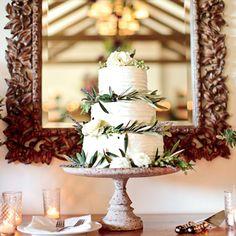 Cake: A Mediterranean-Themed Garden Wedding at Montecito's San Ysidro Ranch | Texas Weddings | Real Weddings | Brides.com
