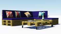 Instructions and 3D plans of how to make a sofa for the garden with pallets9