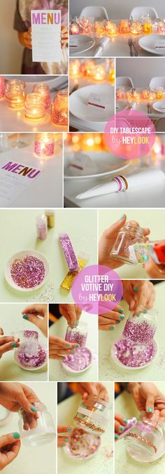 DIY Tablescape - 23 Clever DIY Uses of Baby Food Jars | Upcycle And Repurpose Ideas at http://diyready.com/diy-uses-of-baby-food-jars/