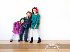 Siblings photo in the studio with Sophia, Spencer & Harper. Photo by: FRP