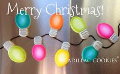 Christmas lights cookie