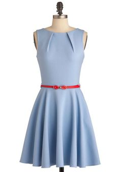 Luck Be a Lady Dress in Powder Blue, #ModCloth