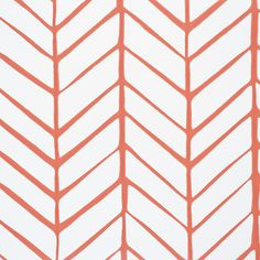 Feather Wallpaper - Coral | Serena & Lily - master bath paper?