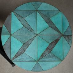 Alessandro+Zambelli+creates+furniture+inlaid+with+patterns+of+oxidised+metal