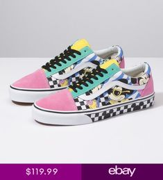 003fc044952 Vans x Disney 80s Mickey   Minnie Old Skool Pink Shoes Sneakers -  VN0A38G1UJE1