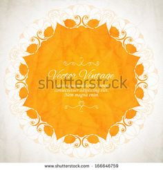 Elegant Indian ornamentation on a vintage background. Stylish design. Can be used as a greeting card or wedding invitation - stock vector