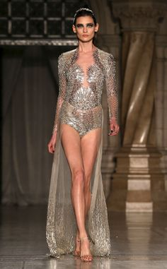 This Julien Macdonald look from London Fashion Week absolutely shines!