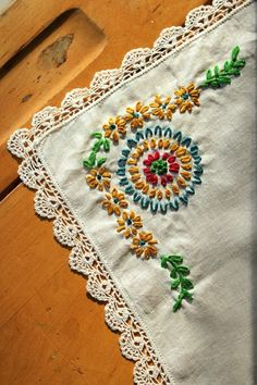 EMBROIDERY and crochet edge