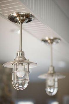 Narragansett, RI – custom nautical kitchen lighting www.mottandchace.com | Rhode Island | Mott and Chace | Sotheby's International Realty