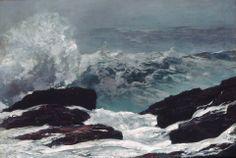 "https://www.facebook.com/MiaFeigelson ""Moonlight, wood island light"" (1894) By Winslow Homer, from Boston, Massachusetts, US (1836 - 1919) - oil on canvas; 78.1 x 102.2 cm; 30 3/4 x 40 1/4 in - © The Metropolitan Museum of Art, New York Gift of George A. Hearn, in memory of Arthur Hoppock Hearn, 1911 https://www.facebook.com/metmuseum http://www.metmuseum.org/"