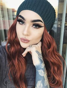 Natural red hair color – Hairstyle Fix - rote Frisuren Beauty Make-up, Beauty Hacks, Hair Beauty, Beauty Tips, Hair Color For Black Hair, Brown Hair Colors, Teal Hair, Hair Colour, Ombre Hair