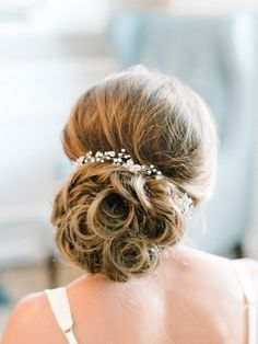 Featured Photographer: Michelle Lange Photography; wedding hairstyle idea, click to see more details