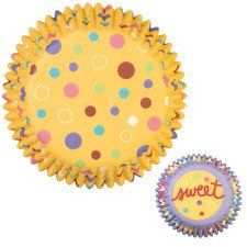 Sweet Dots Themed Cupcake Liners by Wilton Standard Sized