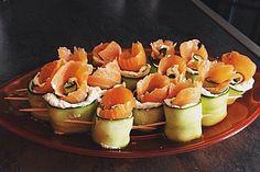Gurken-Lachs-Häppchen, ein gutes Rezept aus der Kategorie Snacks und kleine Gerichte. Bewertungen: 81. Durchschnitt: Ø 4,4.