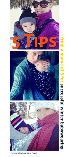 Top 5 Tips for Winter Babywearing || Wow! We are in the midst of an epic storm cycle — winter babywearing with my 2-year-old has become imperative to keephim from getting lost in the snowdrifts! With the temperatures plummeting into single digits, I've had to pull out all my favorite winter babywearing tricks.