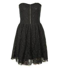 robe bustier dentelle noire