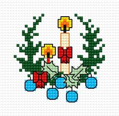 In Christmas (holiday, Christmas, christmas tree, candle, decorative adorments, christmas tree design)
