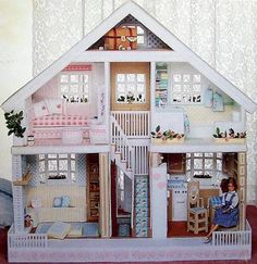 Fashion Doll House By Kooler Design Studio Published by American School of Needlework in 1992 Overall finished size is 38 tall x 40 wide x 18 deep 196 pages  Very Good condition, no loose pages, no dog ears. Never used, been in storage.
