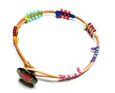 Braided Friendship Bracelets - leather knotted