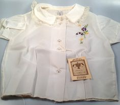 DEADSTOCK 50s Vintage Girl's DuPont DACRON by rememberwhenemporium, $12.95