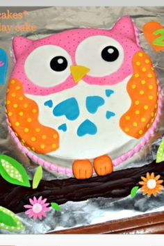 chocolate owl cake for baby shower