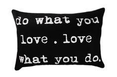 BHS 'Do What You Love' Cushion #BHSgeopop #homeware