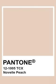 Pantone Novelle Peach