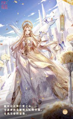 Anime Angel Girl, Anime Girl Dress, Manga Anime Girl, Kawaii Anime Girl, Fantasy Princess, Anime Princess, Anime Art Fantasy, Fantasy Kunst, Pretty Anime Girl