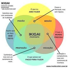 A Portuguese version of the ikigai diagram Lean Six Sigma, Seo Tips, Emotional Intelligence, Self Improvement, Personal Development, Mindset, Leadership, Digital Marketing, Insight