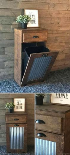 15 Best And Unique Rustic Trash Can Ideas for Outdoor Kitchen GooDSGN furniture living room furniture ideas furniture kitchen furniture log Home Decor Furniture, Kitchen Furniture, Rustic Furniture, Diy Home Decor, Living Furniture, Luxury Furniture, Antique Furniture, Furniture Ideas, Outdoor Furniture