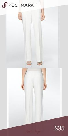 317be435f89 calvin klein essential straight cream suit pants NWOT never worn Calvin  Klein Pants Straight Leg Cream