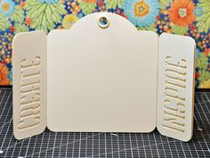 How to Create a Bi-Fold Stand Up Tag by Joanne Bain