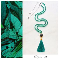 - Chryssomally emerald green boho luxe tassel necklace with agate and crystals. by Chryssomally on Etsy Tassel Necklace, Pendant Necklace, Boho Green, Fashion Art, Fashion Design, Emerald Green, Tassels, Etsy Shop, Crystals