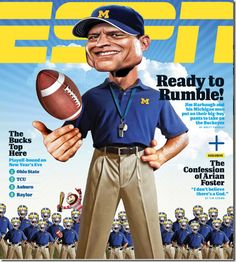 Sports Magazine Covers: Jim Harbaugh