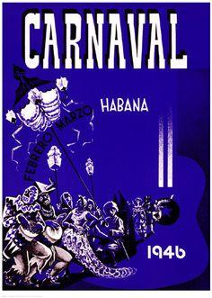 Carnaval, Habana, 1946 Unknown Fine Art Print Poster